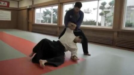 看着超舒服! 巴西柔术和日本合气道的高手对决!