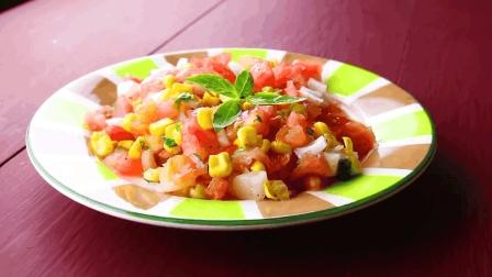 低卡路里家常减肥食谱, 一把玉米半个洋葱一个西红柿健康营养!