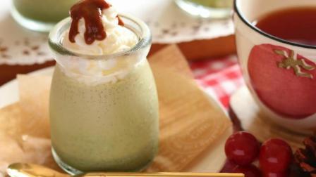 DIY美食教程, 带你一起制作好吃的焦糖抹茶布丁!