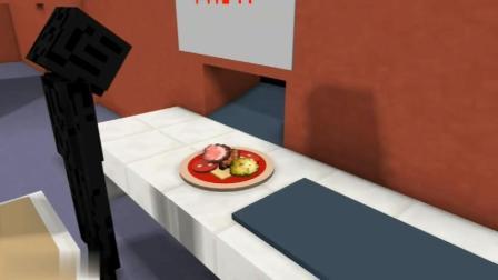 怪物们制作披萨饼, 大厨小黑居然把苍蝇放进材料里