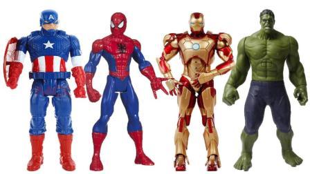 复仇者联盟3玩具 蜘蛛侠超人绿巨人钢铁侠集体打败灭霸