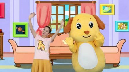 多吉律动儿歌:宝宝和爸爸一起玩耍跳舞拍拍手