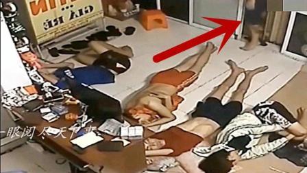 4名员工正睡地板上休息, 假如没监控, 他们都不知道发生了什么!