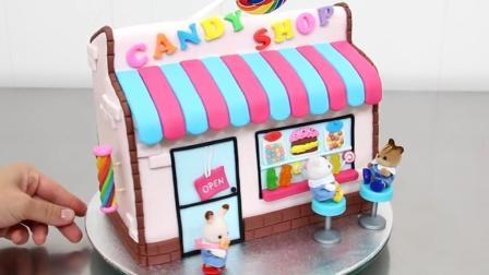 纯手工制作迷你蛋糕房子 简直不要太温馨!