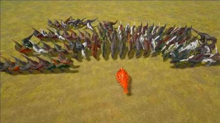 侏罗纪恐龙, 精英甲龙vs100头霸王龙