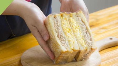 35秒教你做快手早餐金枪鱼三明治