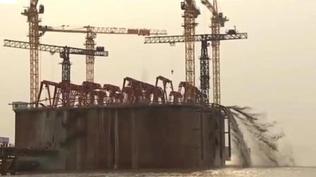中国牛! 沪通长江大桥超级沉井施工纪实, 不愧是中国第一、世界最大!