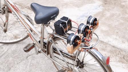 """民间牛人发明""""空气动力""""自行车, 时速25公里"""
