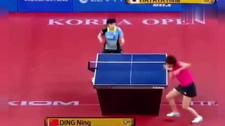 丁宁全程防守, 把日本女选手打傻了, 有种运动叫