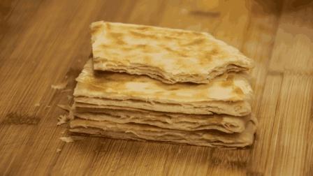 千层饼这样做才好吃, 皮薄如纸, 外酥里软, 一口咬下去直掉渣