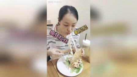 双重芝士帕尼尼套餐(蔬菜沙拉+蜜桃乌龙奶盖), 宝贝最爱帕尼尼