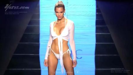КYNABHNKN 2019伦敦时装周泳装秀, 欧美超模的身材自带技能包, 今晚没法吃鸡了!