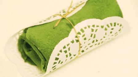 抹茶毛巾卷的做法, 众多甜品中的那一抹绿色, 总是让抹茶控停下脚步 烘焙食谱 美食甜点