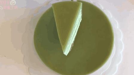 「甜点教程」层层分明的班兰咖椰蛋糕, 味道棒棒哒