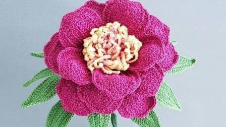 美得让人移不开眼的花, 居然是用毛线做的, 钩针花朵盆栽美图欣赏