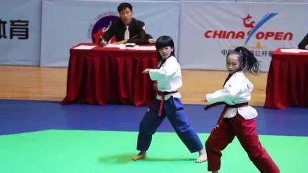 中国跆拳道公开赛, 林秋楠和张嘉莹的自创品势, 简直燃翻全场!