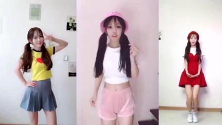 双马尾小姐姐穿着超短裙热舞, 三个舞蹈都好可爱啊!