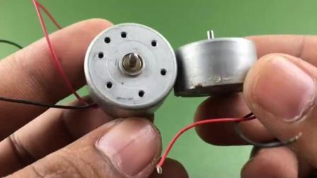 牛人用直流电机和磁铁做成了个发发电机, 真的假