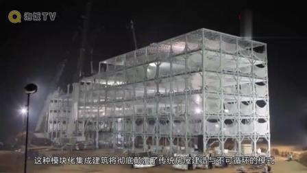 外国人惊呆了! 中国工人盖房子19天盖57层, 还能抗