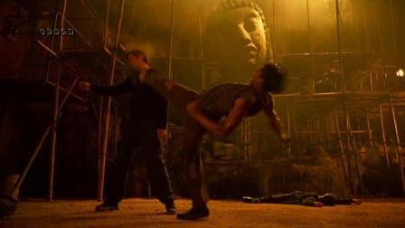 泰拳托尼贾早期美国街头的表演, 360°腾空前踢!