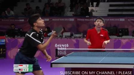 比赛剪辑 8进4 Kanak JHA vs PANG Yew En Koen (YOG 2018) 2018青奥会