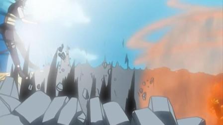 火影忍者: 天地桥之战, 鸣人三尾化仅靠爆气就轻松击退兜, 不小心误伤小樱