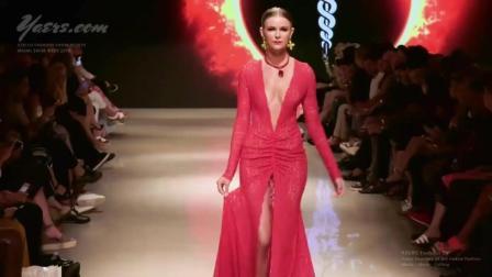 Stello Swimwear迈阿密2019时装秀, 上下都开叉, 这个超模想干啥?