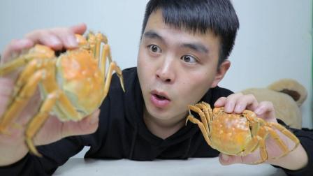 试吃阳澄湖大闸蟹, 超大的蟹黄, 配上肉质鲜美的蟹肉好吃到起飞