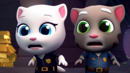 搞笑动画: 全员总动员一起来追踪盗金小坏蛋 最后被汉克警察收服