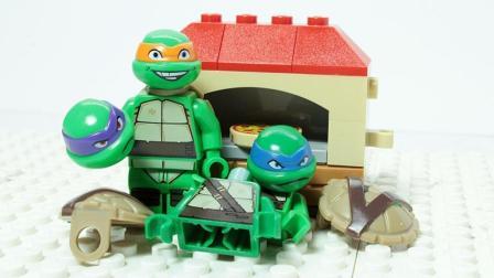 爱吃披萨的忍者神龟自制烤炉 乐高定格动画