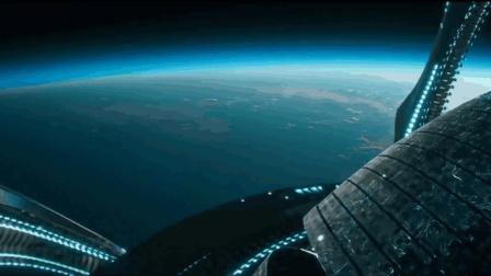 外星大眼睛飞船UFO被地球战斗机2发导弹击中降落