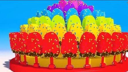 幼儿启蒙动漫卡通: 做美味汉堡和蛋糕学颜色