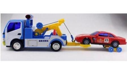挖掘机与卡车工作视频 儿童工程车 汽车总动员动画片中文版 翻滚吧大脚车