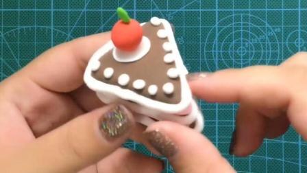 【可乐姐姐做手工】粘土三角蛋糕