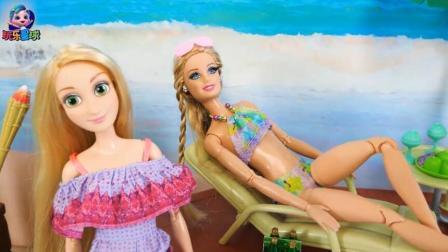 芭比海滩游泳池公主打造新娱乐设施