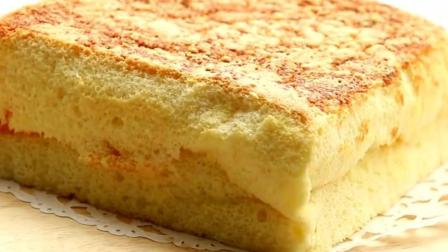 夹心日式海绵蛋糕, 你吃过吗? 看着都不知道从哪里下手!
