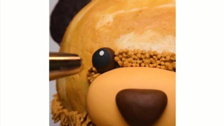 抖音沙皮狗蛋糕系列——熊熊蛋糕制作