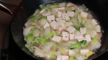 白菜炖豆腐的家常做法, 学会这样做, 吃了一次还想要吃