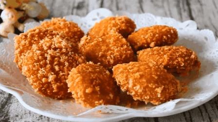 """大厨教你: """"南瓜空心糯米饼""""的家常做法, 香甜松软, 太好吃了"""