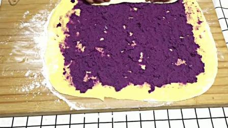 制作奶香紫薯卷的秘密, 做出来的紫薯卷奶香味十足, 甜甜的美味