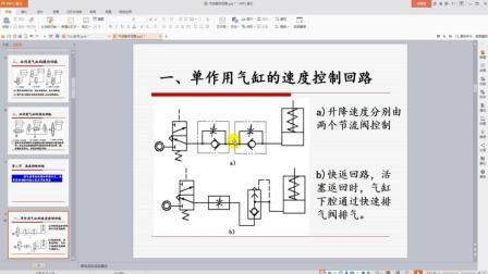 气动基本回路教程-换向回路、速度控制回路、缓冲回路