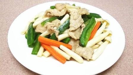 海鲜菇炒肉片 香脆爽口 很多人不知道怎么做才脆 所以做得不好吃