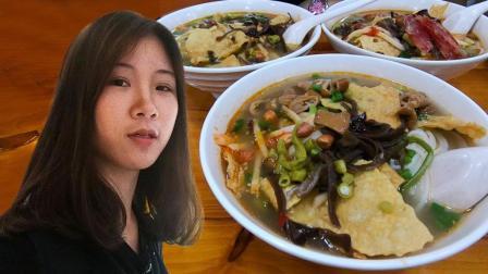 广西这种美食, 闻着臭吃起来却很香, 广东妹子第一次吃就上瘾了!
