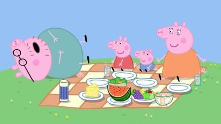 小猪佩奇: 佩奇一家去公园野餐, 猪爸爸想去锻炼但大家却不愿意, 最后结局太搞笑