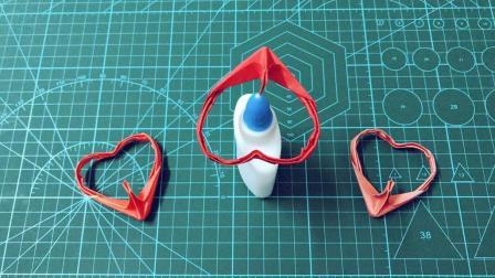 好玩的爱心平衡鹤折纸, 有多少人玩过呢? 手工折纸视频