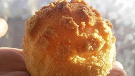 """酥皮泡芙, 朋友吃了连说三个字, """"真酥, 真香, 真好吃! """"酥皮泡芙的做法, 美食 烘焙"""