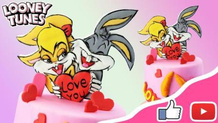 兔八哥趣味卡通可爱翻糖达人翻糖蛋糕 好吃又好看的蛋糕制作