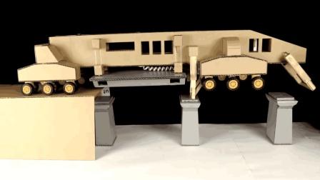 中国全自动架桥机到底有多复杂? 看老外用纸板复制全过程就知道!