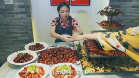 大胃王朵一吃麻辣小龙虾, 看看到底能吃多少, 看