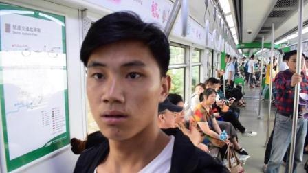 小伙穷游中国, 来到深圳, 第一次坐深圳的地铁, 没想到这么繁华